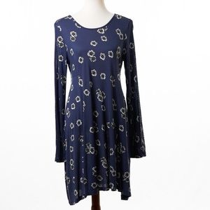 French Connection Floral Print Long Sleeve Dress